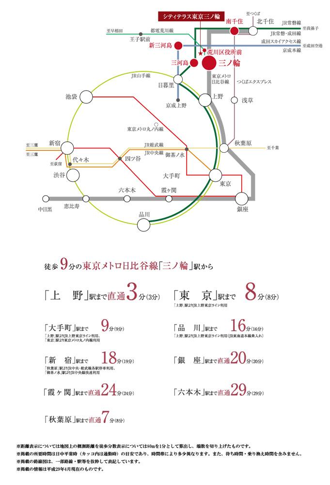 シティテラス東京三ノ輪:交通図