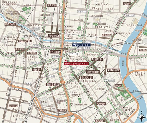 (仮称)ライオンズ千代田岩本町プロジェクト:案内図