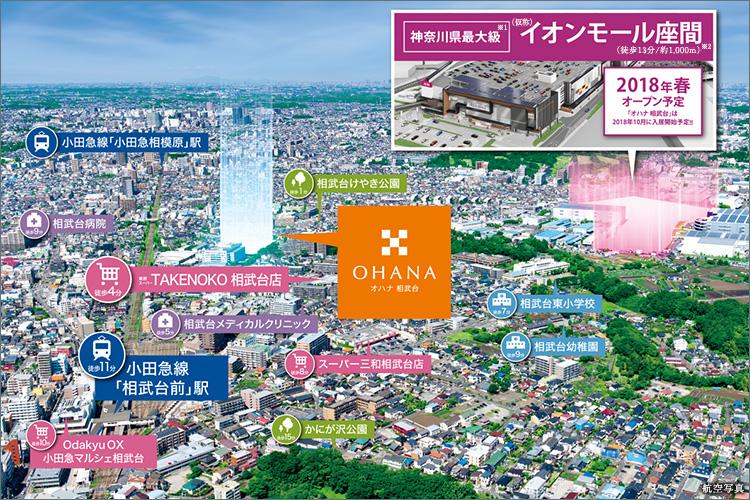 ますます便利な街へ進化を遂げる「相武台」。生活利便施設が整う住環境に、新たな大型商業施設が誕生します。