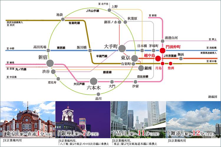 アクセスの多様さは、日々の豊かさ。今日は、どう行こう。休日は、どこへ行こう。住むほどに、気持ち高まる東京ベイフロント。