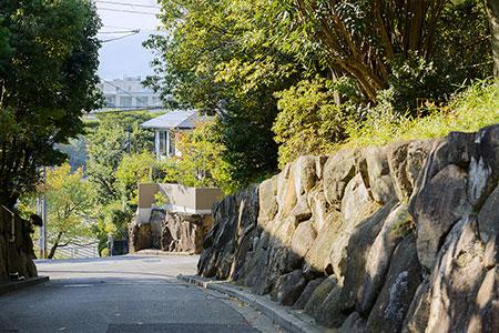 現地周辺邸宅街の佇まい 約220m(徒歩3分)
