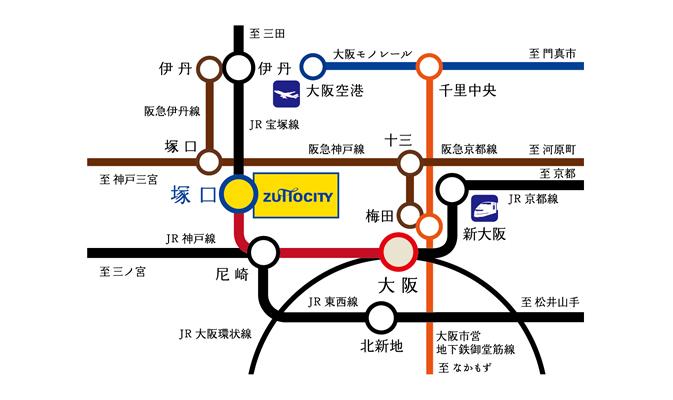 「プラウドシティ塚口」マークフォレスト(先着順):交通図