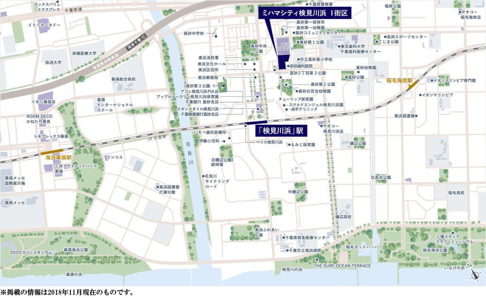 ミハマシティ検見川浜 I街区:案内図