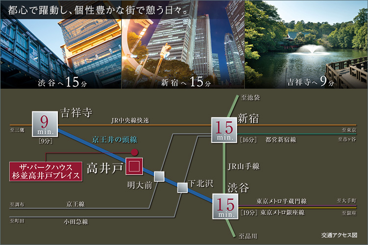 【最寄駅徒歩5分。渋谷・新宿へ15分でアクセス】