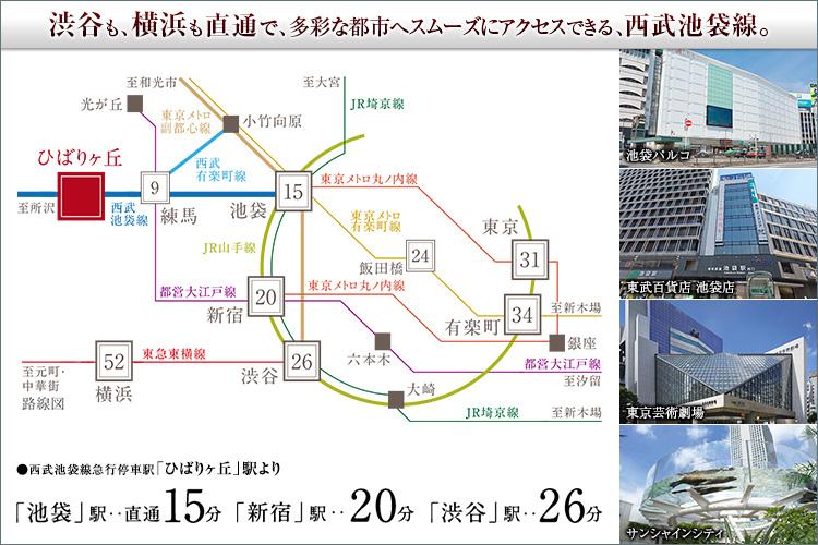 渋谷も、横浜も直通で。