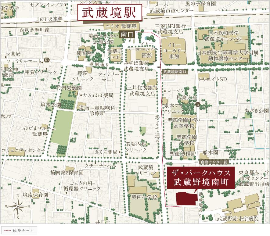 ザ・パークハウス 武蔵野境南町:案内図