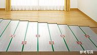 リビング・ダイニングには、温水を利用した床暖房を採用。空気を汚さず、足元から心地よく室内を暖めます。※Cタイプのみ