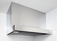 排気機能に優れた整流板付レンジフードを採用しました。日頃のお手入れは、フラットな整流板の底面を拭くだけなので、とても簡単です。