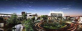 東京メトロ南北線直通・埼玉高速鉄道×JR武蔵野線、2路線が交わる「東川口」駅徒歩4分。駅からもわが家が見える便利な駅近ロケーションに、成熟の街・東川口の新しいランドマークとなる全96戸のプロジェクトが登場。(2016年4月撮影)