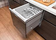 ビルイントンタイプの食器洗い乾燥機を標準装備。多くの食器が一度に洗えて、大幅な節水も期待できます。