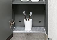 ぬれたサニタリー用品の水切りに便利です。取り出して水洗いできるので清潔に保てます。