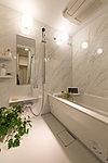 快適な使い心地よい。浴室換気暖房乾燥機は標準仕様。