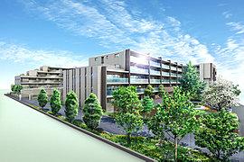 【117家族に贈る緑の庭宅。美しきガーデンライフが、ここから始まります】生まれ変わる街と歩みを合わせるように誕生する「デュオヒルズ南町田THE GARDEN」は、大きな空を背景に、都市の杜を思わせるような豊かな緑が映える「庭宅発想」の住まい