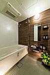清潔感と快適性にこだわったバスルーム。