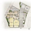 プライバシー性に配慮した、ゆとりある配棟計画を実現。建物の周りは3方向が公道に面しており、まわりの建物と一定の距離が保たれた敷地形状となっています。各階の共用廊下は外からの視界を遮るプライバシー性の高い配棟計画としています。