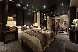主寝室は、繊細な感性とこだわりで自分だけの隠れ家を創りあげたい人にも応えることができる空間。豊富な収納など、機能性にも配慮しながら、寝室の概念にとらわれない、自由でラグジュアリーなプライベートシーンを描き出すことができます。