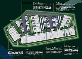 大規模邸宅としての機能とゆとりを敷地全体に。