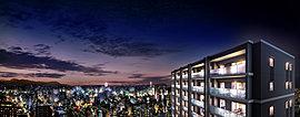 ここだけの壮大なパノラマを日常に。地上19階、南方向に開口する「レーベン松山一番町THE TOWER」は、そのオープンエアな住空間とともに、眼前にダイナミックに展開する壮大な眺望も大きな魅力。※1