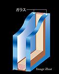 各住戸の開口部のサッシには、2枚のガラスの間に空気層を設けた複層ガラスを採用。1 枚ガラスに比べ、断熱性・気密性が高まります。