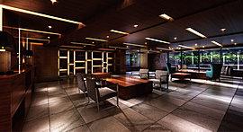 街と住まいの間に、贅沢なまでの洗練を。ホテルライクな上質さを表現するエントランスホールは、待ち合わせや親しい方との語らいの場としてご利用いただける贅沢なスペース。