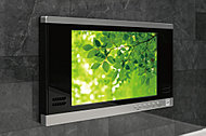 マイクロバブルバスのスイッチを内蔵した12インチの浴室TVを標準装備しました。※地上波デジタルのみ視聴