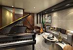 楽器の練習ができるミュージックスタジオにはピアノを常備しています。防音空間なので好きな楽器を思い切り練習することができます。