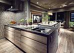 料理を美味しく、美しく魅せる場所。調理をするスペースとしての快適性はもちろん、魅せる空間として洗練された美しさが息づくキッチン。日々のエネルギーを創り出す空間には、使いやすく、快適で清潔である事が求められる。