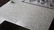 キッチンカウンターはアイカフィオレストーンの人造大理石天板