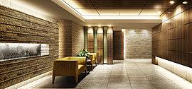 2面接道の敷地を活かした開放感に富んだ住棟配置に加えて、採光・通風性能を高める住戸プランとプライバシーに配慮した内廊下を採用。さらに静謐な空間に気品を添えるアートや質の高い共用施設が、満ち足りた毎日を彩ります。