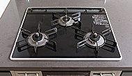 熱や衝撃に強く、インテリア性に優れたパールクリスタルトップを採用。※B・C・Dタイプは二口コンロとなります。