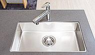 キッチンシンクには水があたる際の音を軽減する静音タイプを採用しました。※B・C・Dタイプは形状が異なります。