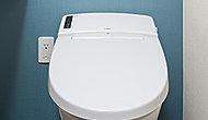 汚れがたまりやすいつぎ目がなく、強力な水流が便器鉢内のすみずみまで回り少ない水量でしっかりとまる洗い洗浄(パワーストリーム洗浄)ができます。