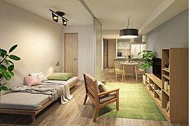 スライドドア、アウトフレームで家具配置がしやすく機能性に富んだコンパクトプラン