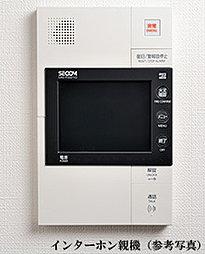 エントランスの来訪者を音声と画面で確認できるカラーモニター付きインターホンを採用しました。ハンズフリーで応答できます(録画機能はありません)。