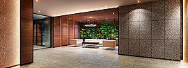 建物の美しさを表現したいという思いをファサードデザインへと展開しました。外壁のベースカラーは、空と緑に映えるアッシュグレー。ホワイトラインで爽快感を演出します。