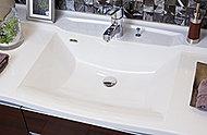継ぎ目がない一体型なのでお手入れも簡単。見た目にも美しく、清潔感を感じるスタイリッシュなデザインです。