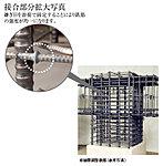 鉄筋コンクリート構造の柱に溶接閉鎖型のせん断補強筋を採用。継ぎ目を溶接で固定することにより、地震時の主筋の折れ曲がりを防止、コンクリートの拘束効果を高めます。せん断力に強く、柱の耐震性を向上。