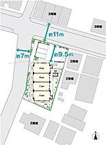 ノブレス東寺尾中台は角地を活かしたプランニング。通風、採光にすぐれた2面接道の角地に誕生。