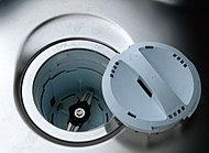 キッチンの生ゴミをシンク下に設置されたデイスポーザで迅速に粉砕処理してキッチン排水とともに処理槽へ送ります。キッチンを清潔に保てます。