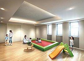 居住者同士の語らいや雨の日もお子様を遊ばせることのできるスペースなど、さまざまに活用できるコミュニティスペース(集会室)をご用意。憩いのひとときを過ごしながら子どもたちを遊ばせることができます。