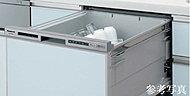 食器がたっぷり入る食器洗い乾燥機。隅々まで洗浄が行き届く円弧状の食器カゴを搭載し、節水・洗浄性を高めました。