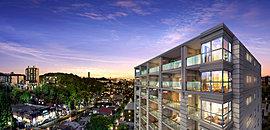 ※掲載の外観完成予想CGは、現地9階相当より北方面を2017年11月に撮影した写真にCG合成を加えたもので実際の眺望や景観とは異なります。