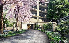桜の名所としても有名なパリ植物園「ジャルダン・デ・プラント」をエッセンスに、時とともに深まる佇まいを大切にしたユーロテイストの外観デザイン。
