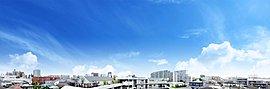 ※掲載の眺望写真は、現地5階住戸(Iタイプ・508号室)バルコニーから平成28年8月撮影したものに、一部空など加工しております。