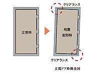 ドア枠が変形しても女性でも解放できる玄関ドアを採用し、地震時に玄関ドアが開かなくなるトラブルを低減します。
