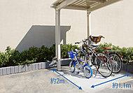 平置で快適な屋根付き「サイクルポート」【全439邸に対し100%】