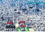 空撮※掲載の航空写真は2016年3月に撮影したものにCG加工をしたものです。また物件の位置を表した光は、建物の規模・高さを表現したものではございません。