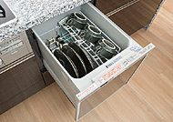 食器の出し入れがしやすいスライドオープンタイプ。※A、A1、A4、C、E、E4タイプ除く