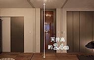 居室の間仕切りをトールスライドウォール※とすることで、空間の可変性を高めました。※一部タイプ・階を除きます。※詳細は図面集をご確認ください。