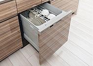 スッキリとしたフラットデザイン。乾燥時の排気温度を下げるソフト排気モードを採用。キッチンの温度環境やお子様の安全に配慮しました。